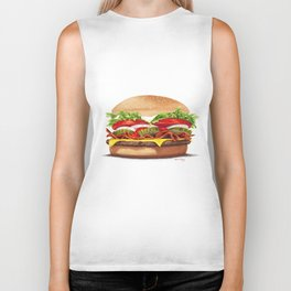 Bacon Cheeseburger by dana alfonso Biker Tank
