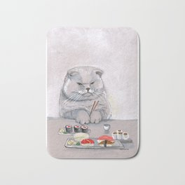 Sushi Cat Cutting Board Bath Mat