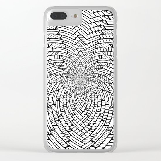 sweeping black and white 3 Clear iPhone Case