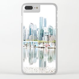 Vancouver Skyline Clear iPhone Case