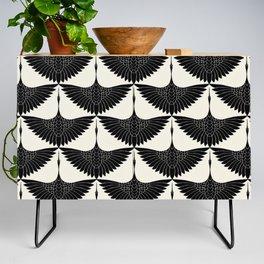 CRANE DESIGN - pattern - Black and White Credenza