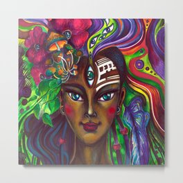 Native Girl Metal Print