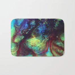 Titan Abstract Artwork, Contemporary Artist Design, Close Up Photograph, Bright Color Abstract Art Bath Mat