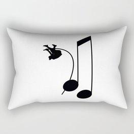 Note Vaulter Rectangular Pillow