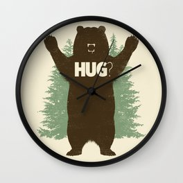 Bear Hug? Wall Clock