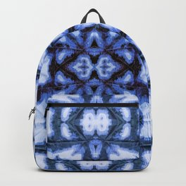 Blue Oxford Shibori Backpack