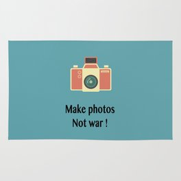 Make photos not war Rug