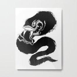 Sumi Snake/ 済蛇 Metal Print