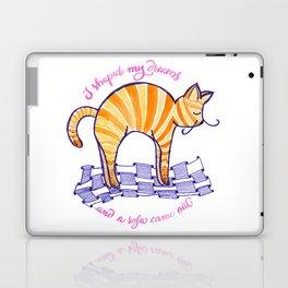 Lazy stretching hump cat Laptop & iPad Skin