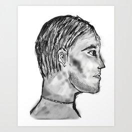 Man of the mine Art Print