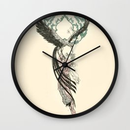 Bird of Sorrow Wall Clock