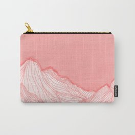 Lines in the mountains - pink Carry-All Pouch