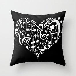 Invert Music love Throw Pillow