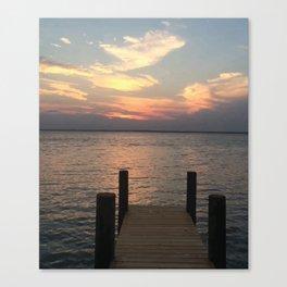 Baesic Lonely Dock Canvas Print