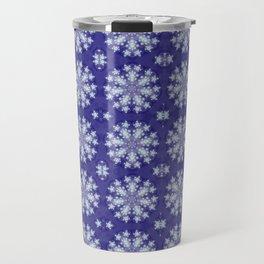 Frozen Snow Flakes Travel Mug