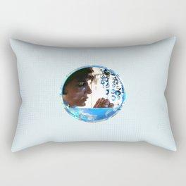 Crystals - Blue  Rectangular Pillow