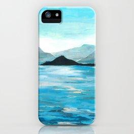 Lake Como, Seascape Original Painting iPhone Case