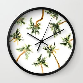Under the coconut palms Wall Clock