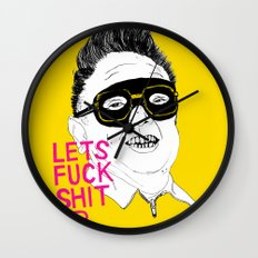 F*ck Sh*t Up Wall Clock