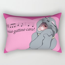 Soprano cat Rectangular Pillow