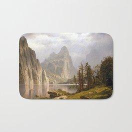 Albert Bierstadt Merced River, Yosemite Valley Bath Mat