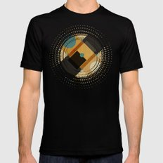 Geometric/Abstract 3 Black MEDIUM Mens Fitted Tee