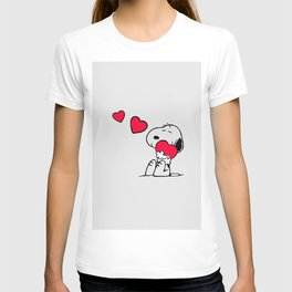 Snoopy hug love and dream T-shirt