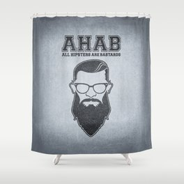 ALL HIPSTERS ARE BASTARDS - Funny (A.C.A.B) Parody Shower Curtain