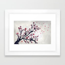 Sakura Sakura watercolour Framed Art Print