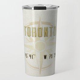 Toronto - Vintage Map and Location Travel Mug
