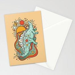 Star Stego   Retro Reptile Palette Stationery Cards