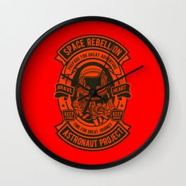 Space Badge Wall Clock
