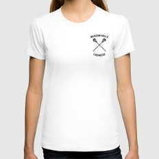 Beacon Hills Lacrosse Teen Wolf SMALL White Womens Fitted Tee