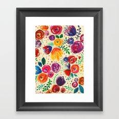Summer Fruits Floral Framed Art Print