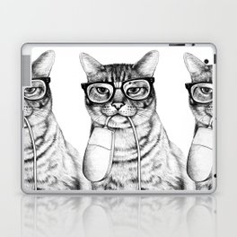 Mac Cat Laptop & iPad Skin