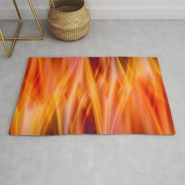 Flames are dancing | Distortion of reality Rug
