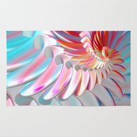 angel wings Area & Throw Rugs featuring Angel Wings by ArtPrints