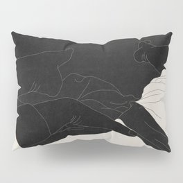 intimacy - digital drawing, paper texture Pillow Sham