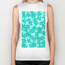 Blue Green Abstract Biker Tank