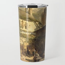 Bauerliches meeting in the former Romanesque cloister Travel Mug