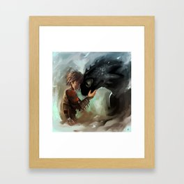 hiccup & toothless Framed Art Print