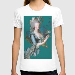 marie Antoinette teal T-shirt