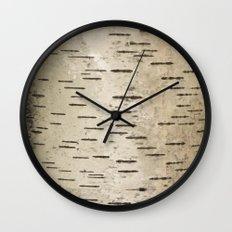 Birch Tree Bark Camo Wall Clock