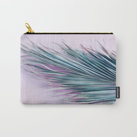 Palm leaf on pink Carry-All Pouch