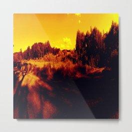 Eyes On Orange Horizons Metal Print