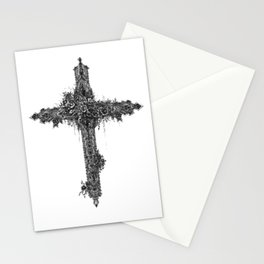 Black Cross Stationery Cards