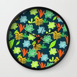 Cheerful plants Wall Clock
