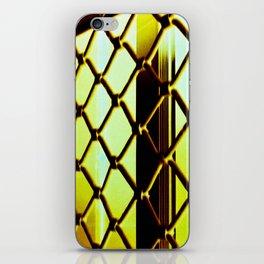 Abstract Cross Processed Sea Foam Green Metal Gate Store Shutter iPhone Skin