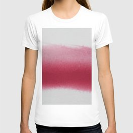 RED GRADIENT WATERCOLOUR CONTRAST T-shirt