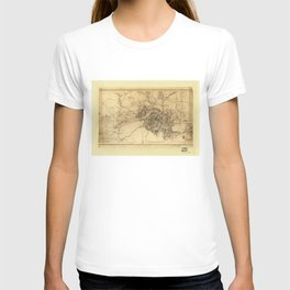 Civil War Map of the Siege of Atlanta, July 19th 1864-August 26th 1864 T-shirt